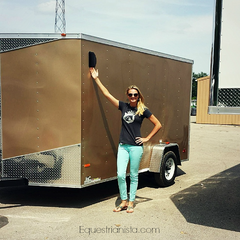 Equestrianista mobile boutique and owner Julie Frykman.
