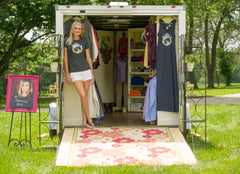 The Equestrianista Mobile Shopping Boutique travels to Horse Shows across the Midwest.