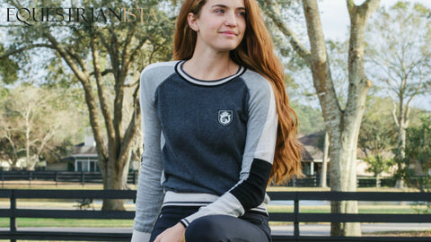 Show Crew Sweater by Equestrianista worn by My Equestrian Style.