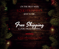 Eight Weeks of Gift-Giving Specials from Equestrianista. Week 1 Free Shipping.
