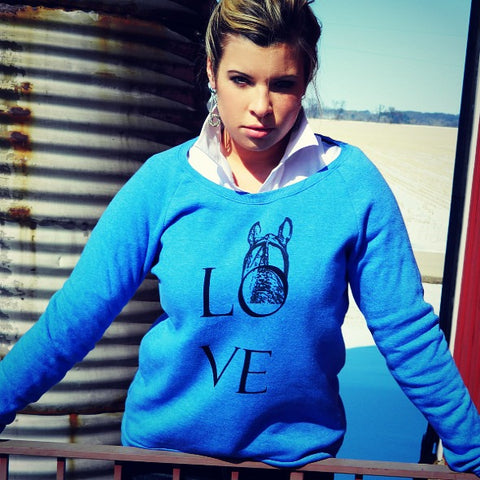 Between the ears sweatshirt by Equestrianista.