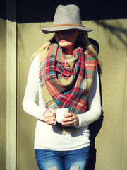 Plaid Blanket Scarf oversized from Equestrianista.
