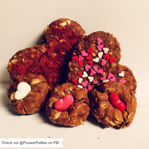 Valentine's Day themed homemade horse treat recipe on the Equestrianista blog.