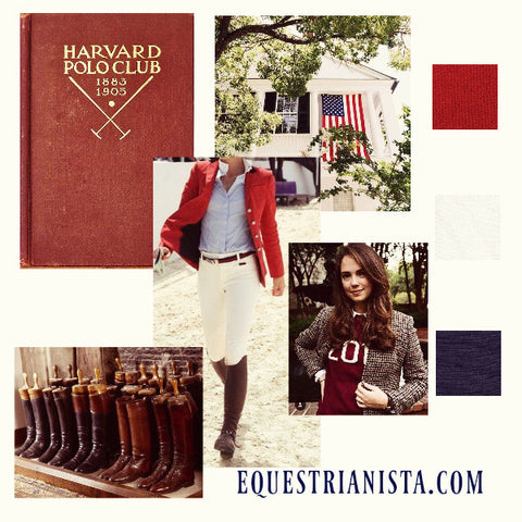 Equestrianista Riding Club Sweater Mood Board of Equestrian Fashion 2017