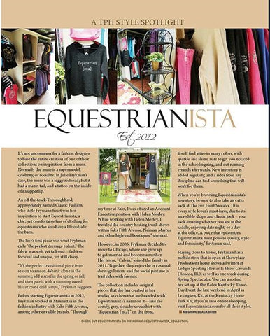 The Plaid Horse Style Spotlight with Equestrianista.