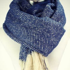 Navy Herringbone Scarf from Equestrianista Collection.
