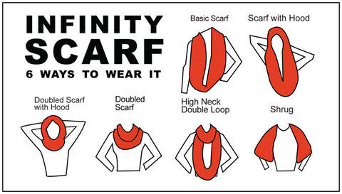 Image result for how to wear infinity scarf