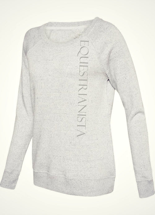 Classic Signature Fleece in Ash Grey by Equestrianista Brand Apparel & Accessories.