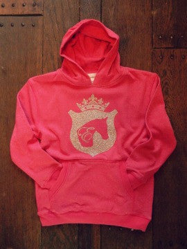 Girls Equestrian Hoodie in Pink by Equestrianista.