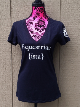 Glitter Equestrian ista T-shirt in Black by Equestrianista Collection