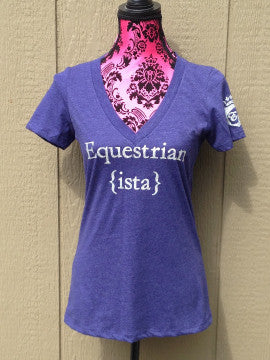 Equestrian ista Glitter T-shirt in Blue Violet by Equestrianista.