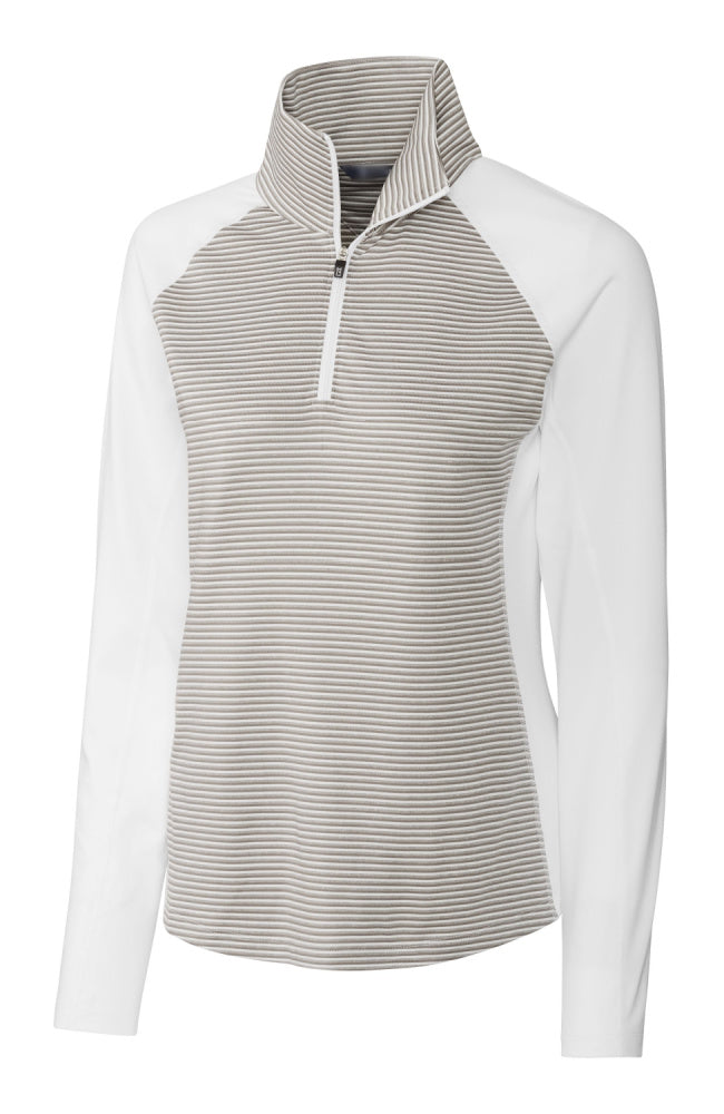 Equestrian Sun Shirt with Half Zip in White by Equestrianista Brand Apparel and Accessories.