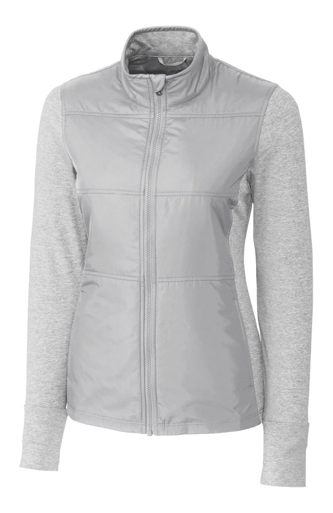 Womens Equestrian Fashion Hybrid Jacket in Heather Grey by Equestrianista Brand Apparel and Accessories.