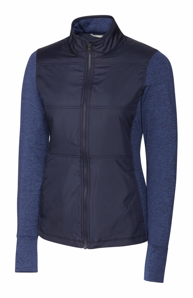 Womens Equestrian Fashion Hybrid Jacket in Heather Navy by Equestrianista Brand Apparel and Accessories.