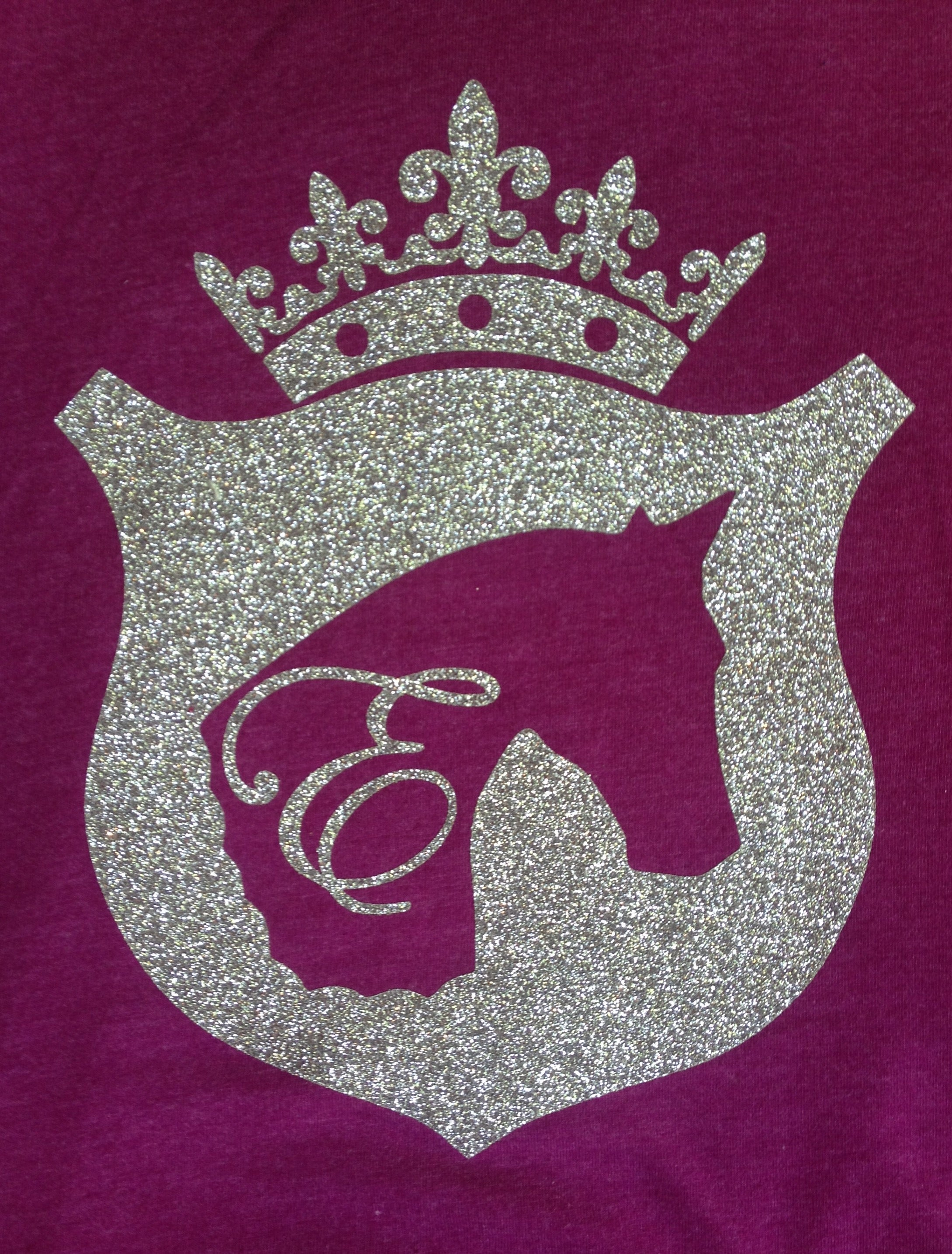 Equestrianista Glitter Logo T-Shirt in Sangria by Equestrianista.