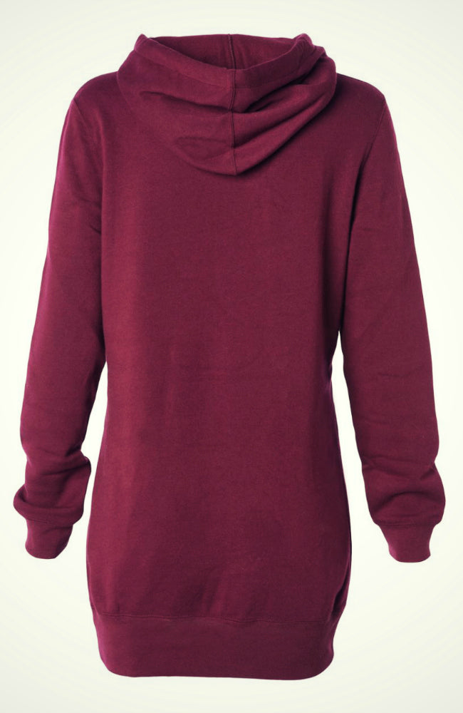 Women's Equestrian Tunic Hoodie in Burgundy by Equestrianista Apparel and Accessories.