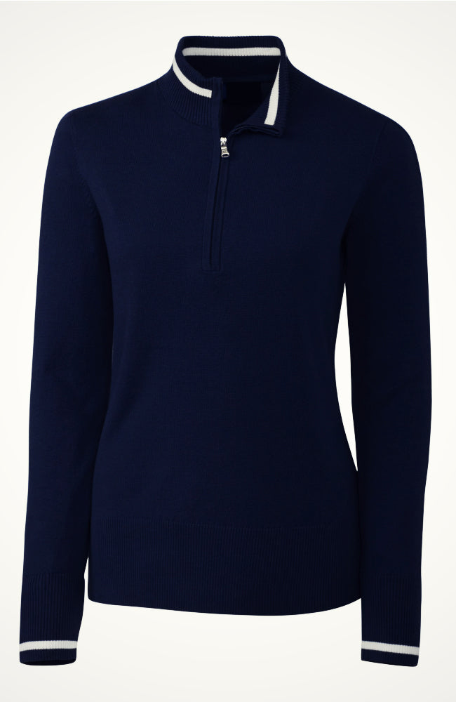 Women's Equestrian Riding Sweater in Navy by Equestrianista Brand Apparel and Accessories.
