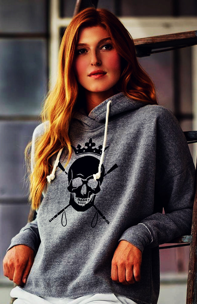 Skull and Crops Hoodie by Equestrianista Brand Apparel and Accessories.