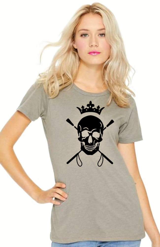 Womens Equestrian Style Skull and Crops Tee by EQUESTRIANISTA.