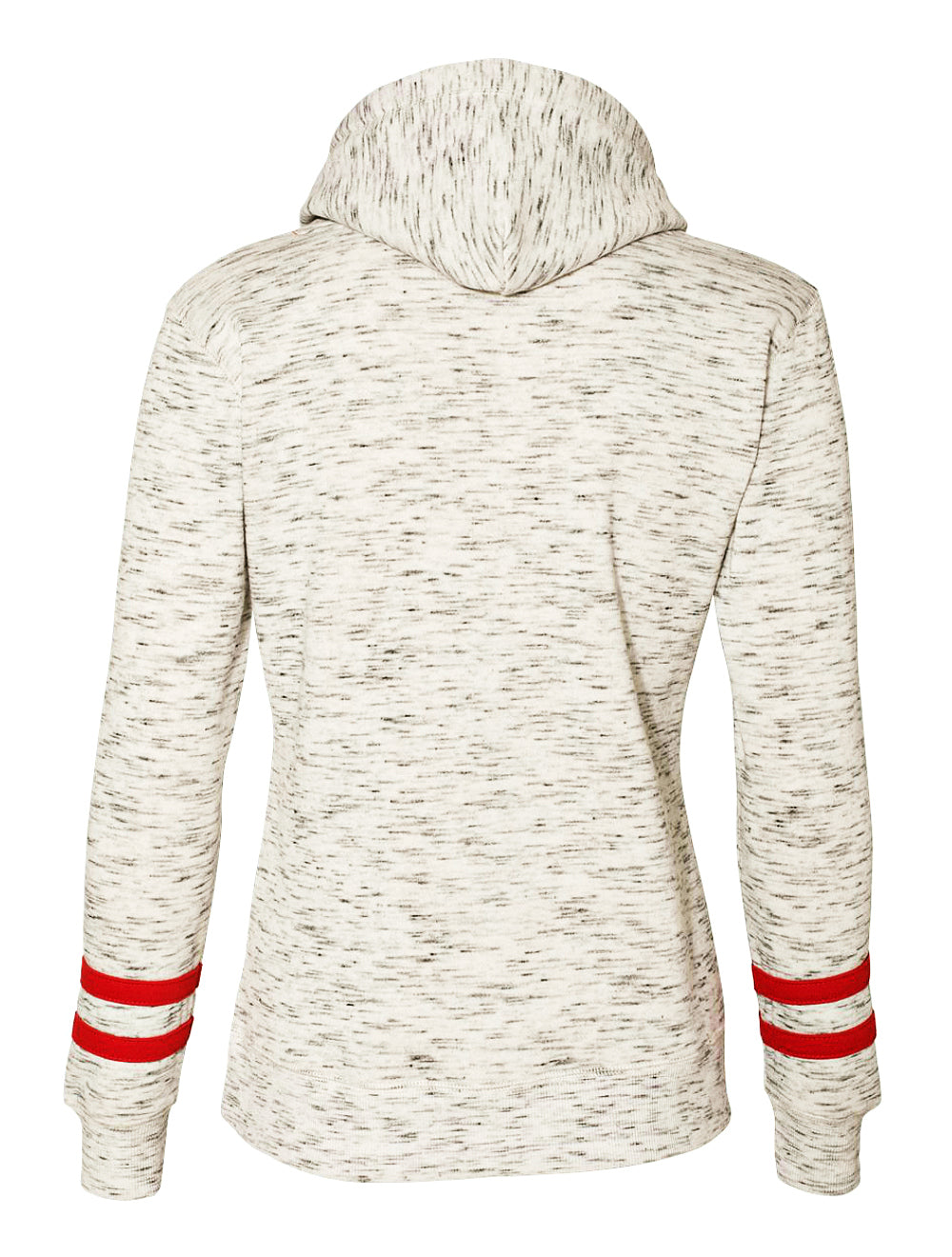 Equestrian Heather Grey Hoodie Sweatshirt with Red Stripes by Equestrianista.