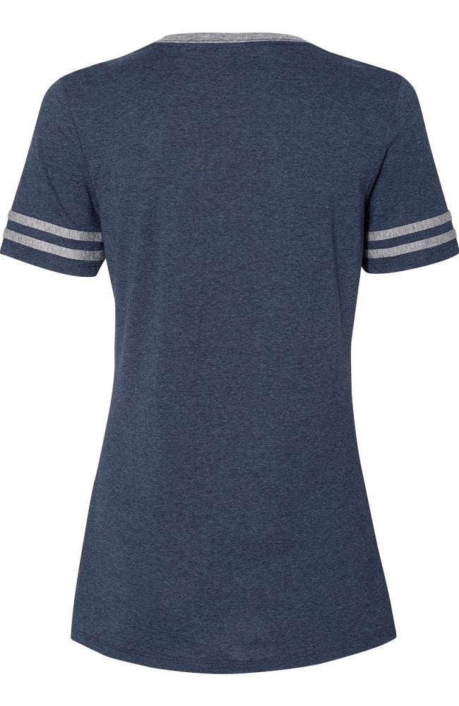 Women's  Sport Stripes Equestrian Tee in Navy by Equestrianista.