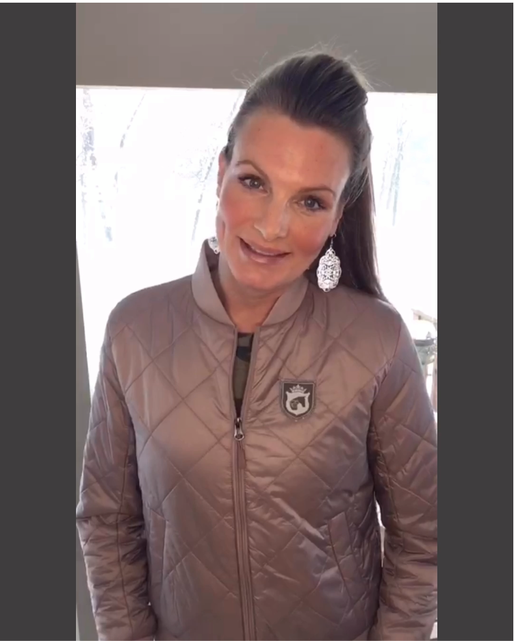 Equestrian Fashion Bomber Jacket by EQUESTRIANISTA Apparel and Accessories.