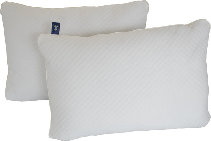 Almohada Dream Pillow Push Firm vista frontal una tras otra fondo blanco