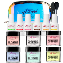 Load image into Gallery viewer, Dip Powder Nails Kit - 6 Color, 6 Liquid All-in-One Dipping Super Kit
