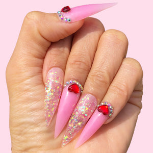 Polygel Nail Kit with Lamp, Slip Solution and Color Change, Glitter Polygel All-in-One Kit