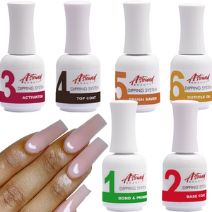 Dip Powder Nail Kit with 6 Liquids Refill