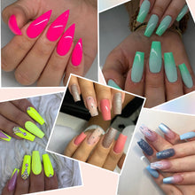 Load image into Gallery viewer, Dip Powder Nail Kit with 6 Color, 6 Liquid All-in-One Nail Dip Powder Kit