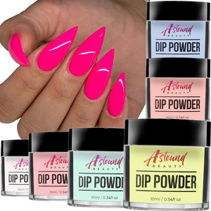 Dip Powder Nails Kit - 6 Color, 6 Liquid All-in-One Dipping Super Kit
