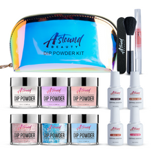Load image into Gallery viewer, Dip Powder Nails Kit - 6 Color Glitter Dipping Travel Kit