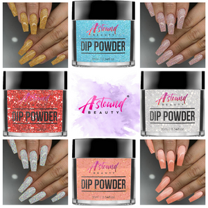 Dip Powder Nail Kit with Glitter Dip Powder Colors