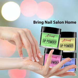 Dip Powder Nail Kit with Glow in the Dark Dip Powder Colors