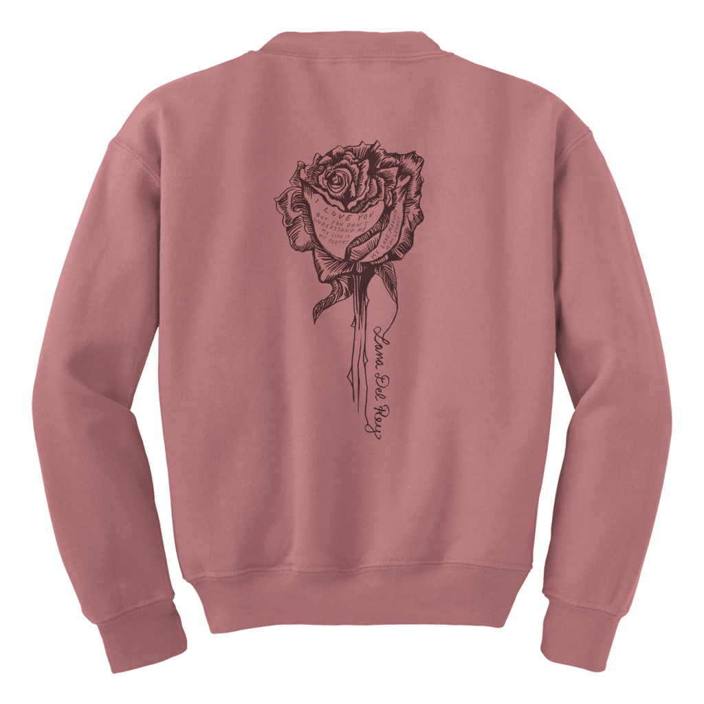 Rose Writing Crewneck
