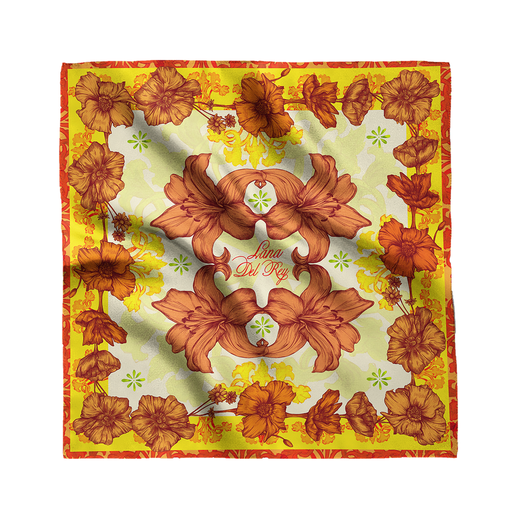 Lana Del Rey Poppies and Lilies Scarf-Lana Del Rey