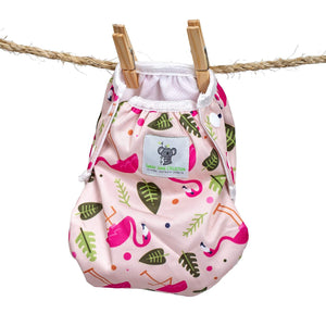 Reusable Swim Diaper- Pink Flamingo
