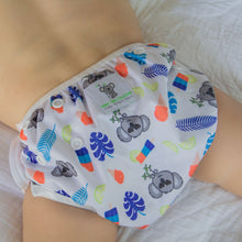 Load image into Gallery viewer, Reusable Swim Diaper & Waterproof Wet Bag- Blue Koala