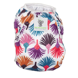 Reusable Swim Diaper- Carnival Feather LARGE