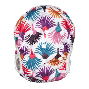 Reusable Swim Diaper & Waterproof Wet Bag- Carnival Feather