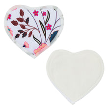 Load image into Gallery viewer, Nursing Pads & Wet Bag- Set of 6- Heart- Spring Meadow