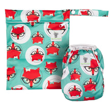 Load image into Gallery viewer, Reusable Swim Diaper & Waterproof Wet Bag- Fox