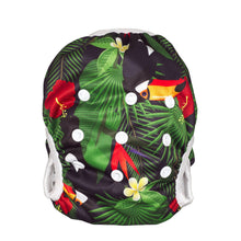 Load image into Gallery viewer, Reusable Swim Diaper- Toucan Jungle LARGE