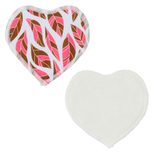 Load image into Gallery viewer, Nursing Pads & Wet Bag- Set of 6- Heart- Feather