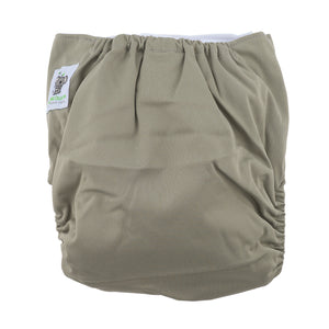 Modern Cloth Diapers (Pocket-OSFM)- 6 Starter Pack- 0-3 yrs Dino/ Palm/ Sloth & Grey/Khaki