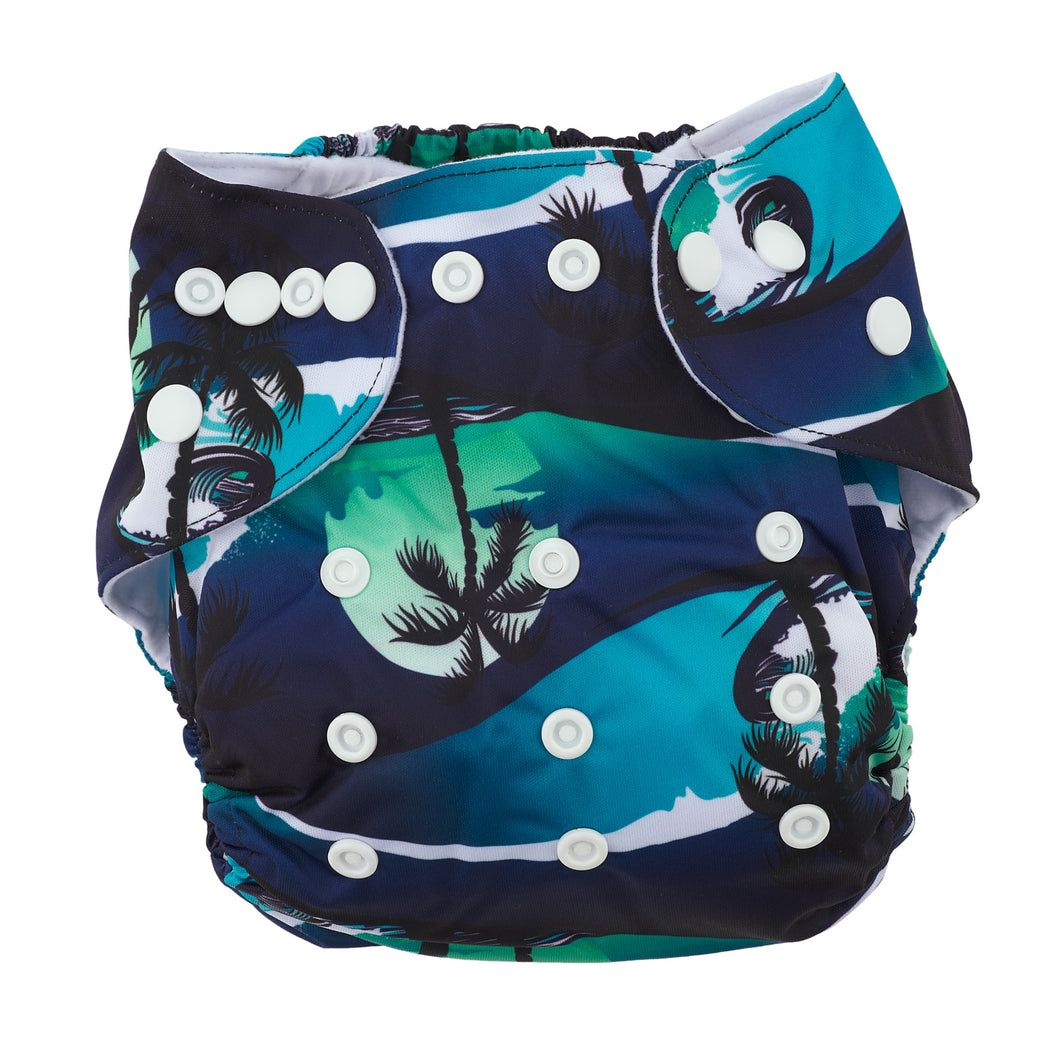 Modern Cloth Diaper (Pocket-OSFM)- 0-3 yrs- Night Palms