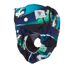 Load image into Gallery viewer, Modern Cloth Diapers (Pocket-OSFM)- 6 Starter Pack- 0-3 yrs Dino/ Palm/ Sloth & Grey/Khaki