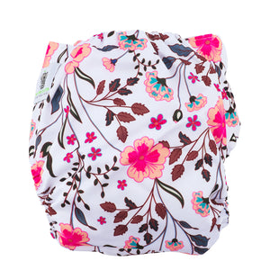 Modern Cloth Diapers (Pocket-OSFM)- 3 Starter Pack- 0-3 yrs- Peacock/ Dusty Pink & Spring Meadow