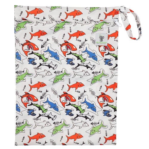 Waterproof Zip Wet Bag (Large) - Shark - 40x30cm